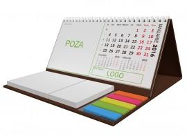 Calendar birou special 2019 cu notite adezive DM202 Maro