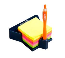 Cub autoadeziv cu suport, 76 x 76 mm, HOPAX - 4 culori pastel