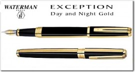 Set stilou + roller WATERMAN Exception Night & Day Gold