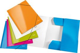 Mapa A4 carton plastifiat cu elastic Leitz Wow