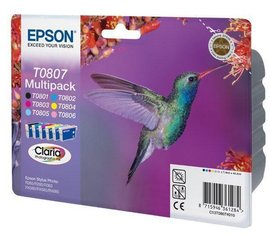 Multipack LC,LM,C,M,Y,K Epson T0807