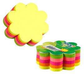 Cub notite adezive color in forma de floare