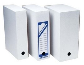 Cutie arhivare carton ondulat alb 15 cm