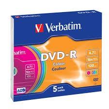 DVD-R 16X 4.70GB SlimCase color Verbatim
