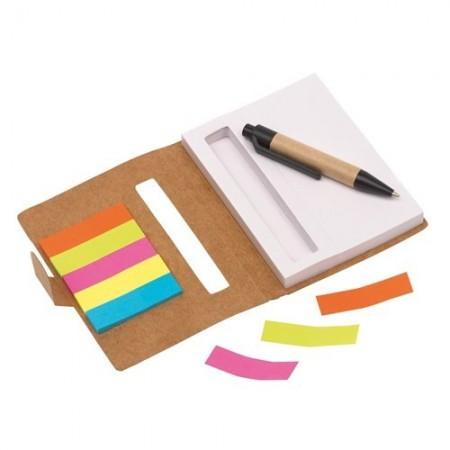 Mini notebook Memo cu pix si notite adezive - personalizabil