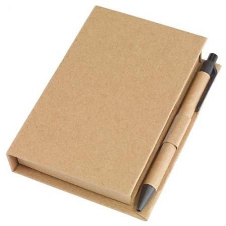 Agenda tip MemoBox cu notite adezive, pix si rigla personalizabila