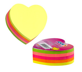 Cub notite adezive color in forma de inima