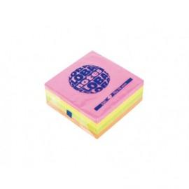 Notite adezive 75x75mm, 320 file neon