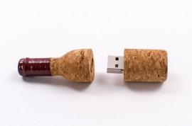 USB personalizabil tip sticla pluta K05