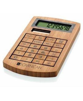 Calculator birou din lemn bambus personalizabil