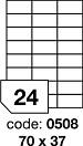 Etichete autoadezive 24/A4 100 coli/top 70 x 37 mm RAYFILM