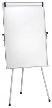 Flipchart whiteboard magnetic, 70x100 cm