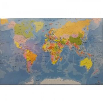 Mapa pentru birou 68x44cm - harta lumii