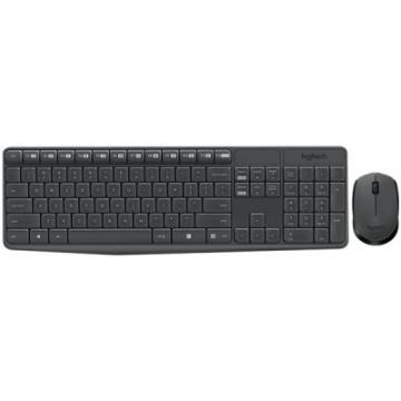 Set mouse si tastatura wireless Logitech MK235 -negru