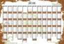 Planner 2020 perete Retro A1