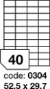 Etichete autoadezive 40/A4, 100 coli/top, 52,5 x 29,7 mm RAYFILM