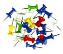 Pioneze panou pluta color 50buc/set Office Epene