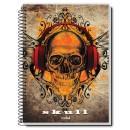 Caiet spira metal SKULL IS COOLTURE 200 pagini
