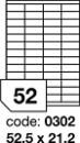 Etichete autoadezive 52/A4, 100 coli/top, 52,5 x 21,2 mm RAYFILM