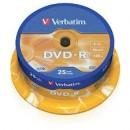 DVD-R 16X 4.70GB 25buc/set VErbatim Matt Silver