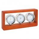 Statie meteo Frame cu ceas si cadru de lemn personalizabil