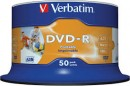 DVD-R 16X 4.7GB printabil wide inkjet Verbatim 50/set
