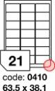 Etichete autoadezive 21/A4 100 coli/top 63.5 x 38.1mm RAYFILM