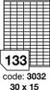 Etichete autoadezive 133/A4, 100 coli/top, 30 x 15 mm RAYFILM