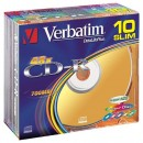 CD-R 700MB 52X  Verbatim Color SlimCase