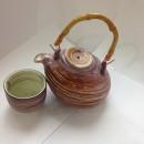 Set ceai cu maner din bambus