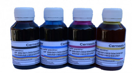 Set cerneala refill cartus HP 653 Negru si Color