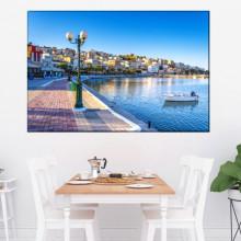 Tablou Portul Sitia la Apus, Insula Creta, Grecia GRTV31