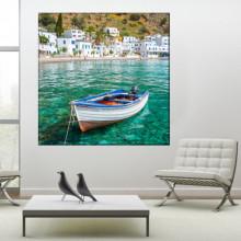 Tablou Canvas Barca in Loutro, Creta, Grecia GRTV35