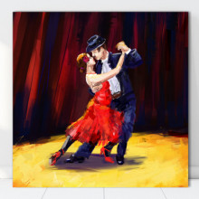 Tablou Canvas Tango, Pasiune si Culori Fierbinti FAB84