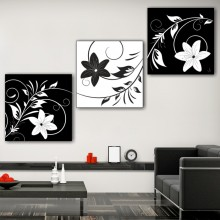 Multicanvas Floral Alb Negru FFAR4