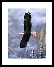 Poster cu rama Vultur intr-un zbor maret