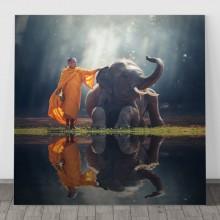 Tablou Calugar cu Elefant FSHB27