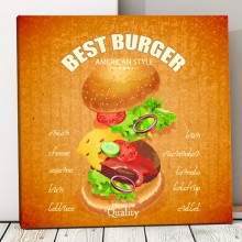 Tablou Canvas Fast Food, Best Burger FTS2