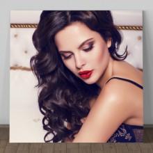 Tablou Canvas Model Femeie cu Par Elegant TNM9