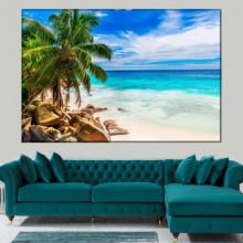 Tablou Canvas Palmieri pe Plaja cu Nisip BNLS49
