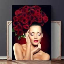 Tablou Femeie cu Trandafiri fst40