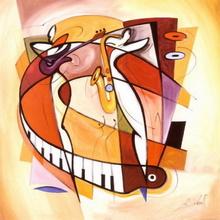 Tablou G.A. - Urla la saxofon