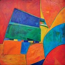 Tablou modern abstract culoare vesela