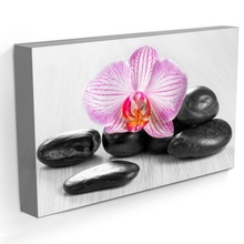 Tablou Orhidee cu Pietre Vulcanice