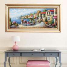 Tablou Peisaj Mediteran OPO64R, Canvas+Rama
