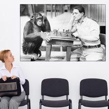 Tablou Joaca Sah cu un Cimpanzeu rcl9