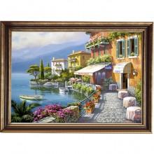 Tablou Faleza Mediterana, Canvas+Rama OPJ1