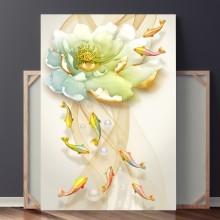Tablou 9 Pesti cu Floare de Lotus OPO8