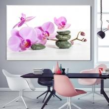Tablou Orhidee Mov cu Pietre Spa ORST107