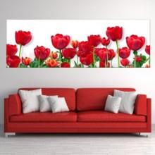 Tablou Canvas Panoramic Lalele Rosii BFL56